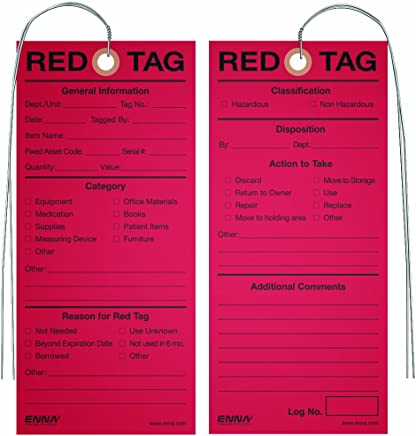 5S Medical Red Tags