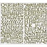 300 Lettres De L'alphabet Adhésives Paillettées Dorees