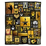 Musical Micro Fleece Bed Blankets Soft Couch Blanket Warm for Home Bedding Living Room 50 X 40 inch