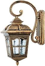 NZDY Retro Victoriaanse antieke wandlantaarn European Vintage Outdoor wandlamp glas lampenkap waterdicht IP65 wandlamp roe...