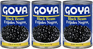 Goya Black Beans Premium 15.5 Oz. Pack Of 3.