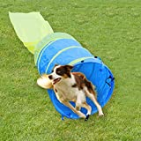 Pet Agility Tunnel Dog Play Outdoor Training and Exercise Equipment for Dog, Puppy, Cat, Kitten, Ferret, and Rabbit 16FT Long Large Obstacle Course for Pets, with Carrying Case