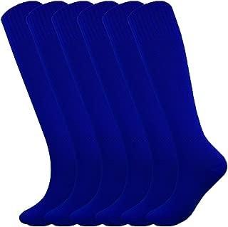 Knee High Long Sports Socks Unisex Multicolor 3/6/12 Pairs