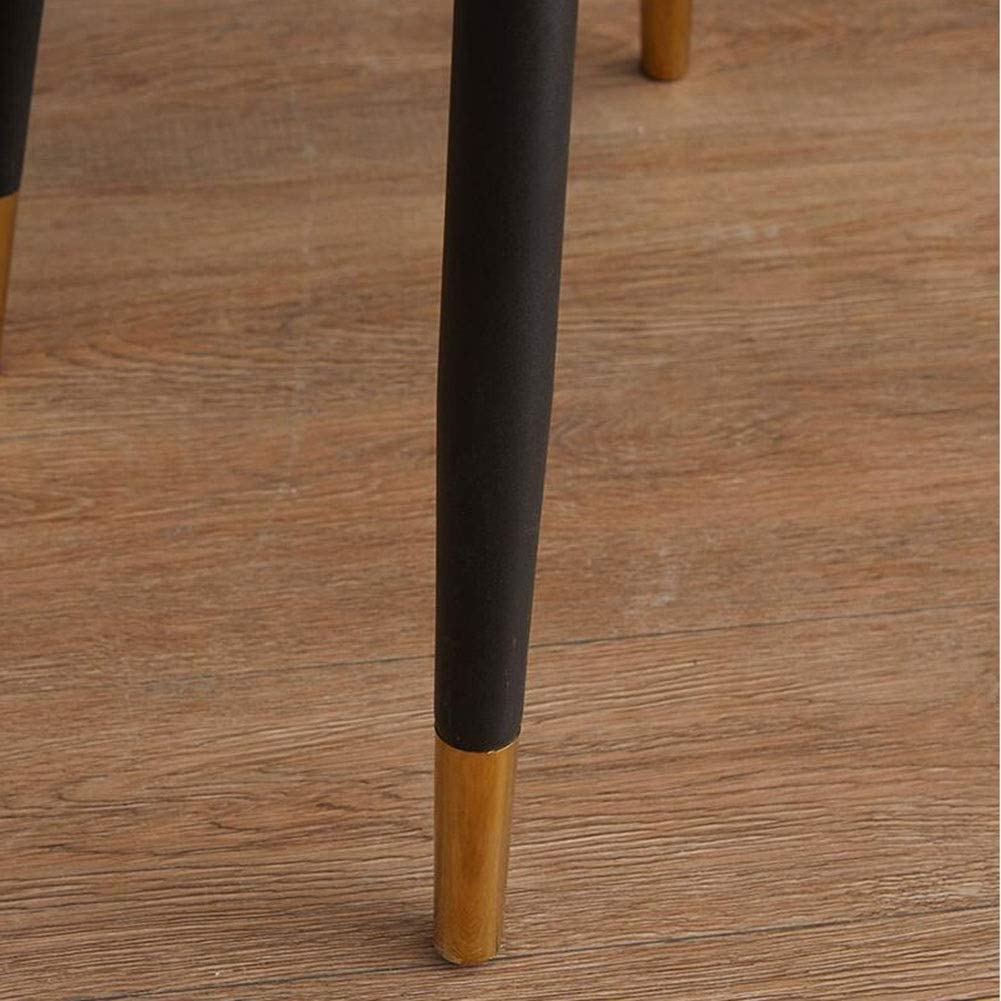 DALL Chaises De Salle À Manger Siège en PU Rembourrés Chaise De Table Jambes en Métal Chaise De Café De Loisirs Assemblé 47 X 41 X 83cm (Color : T7) T4