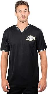 Ultra Game NBA Men's Jersey V-Neck Mesh Short Sleeve Tee Shirt