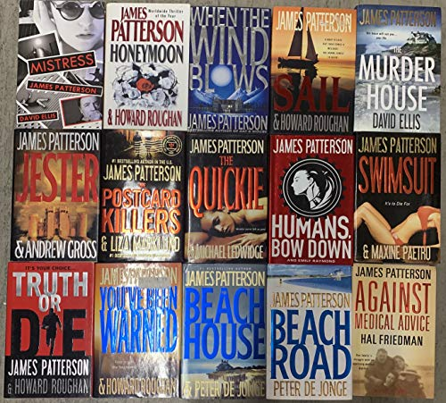 James Patterson Thriller Novel Collection 14 Book Set
