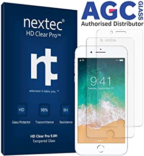 nextec iPhone 8 Plus Screen Protector Glass, Apple iPhone 8 Plus Tempered Glass Screen Protector iPhone 8 Plus (HD Clear Pro4 9.0H) 3D Touch/Case Compatible - AGC Glass