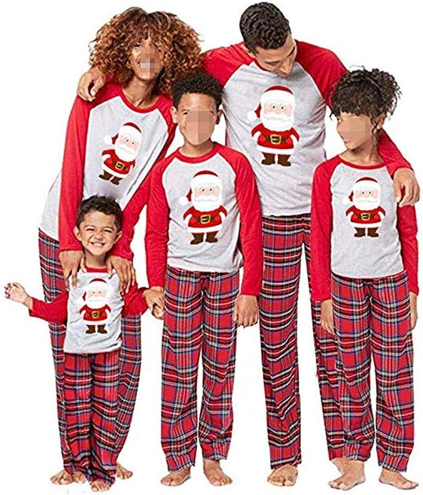 Conjunto de Pijamas Familiares de Navidad, Trajes Navideños para Mujeres Hombres Niño, Ropa Invierno Sudadera Chándal Suéter Niños de Navidad