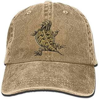 Jearvy Cowboy Hat Cap Men Women Wyoming Mascot Horned Lizard Asphalt 5