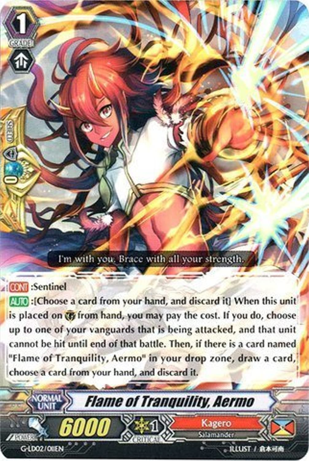 Cardfight   Vanguard TCG - Flame of Tranquility, Aermo (G-LD02 011EN) - G Legend Deck 2  The Overlord blaze Toshiki Kai by Cardfight   Vanguard TCG