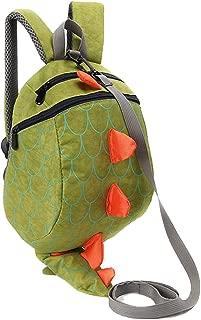 Unisex Child School bag Dinosaur Backpack Lovely Anti-lost Miniature Storage bags (Green)