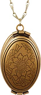 Antique Gold 4 Photo Picture Frame Locket Wholesale Jewelry Pendant Necklace