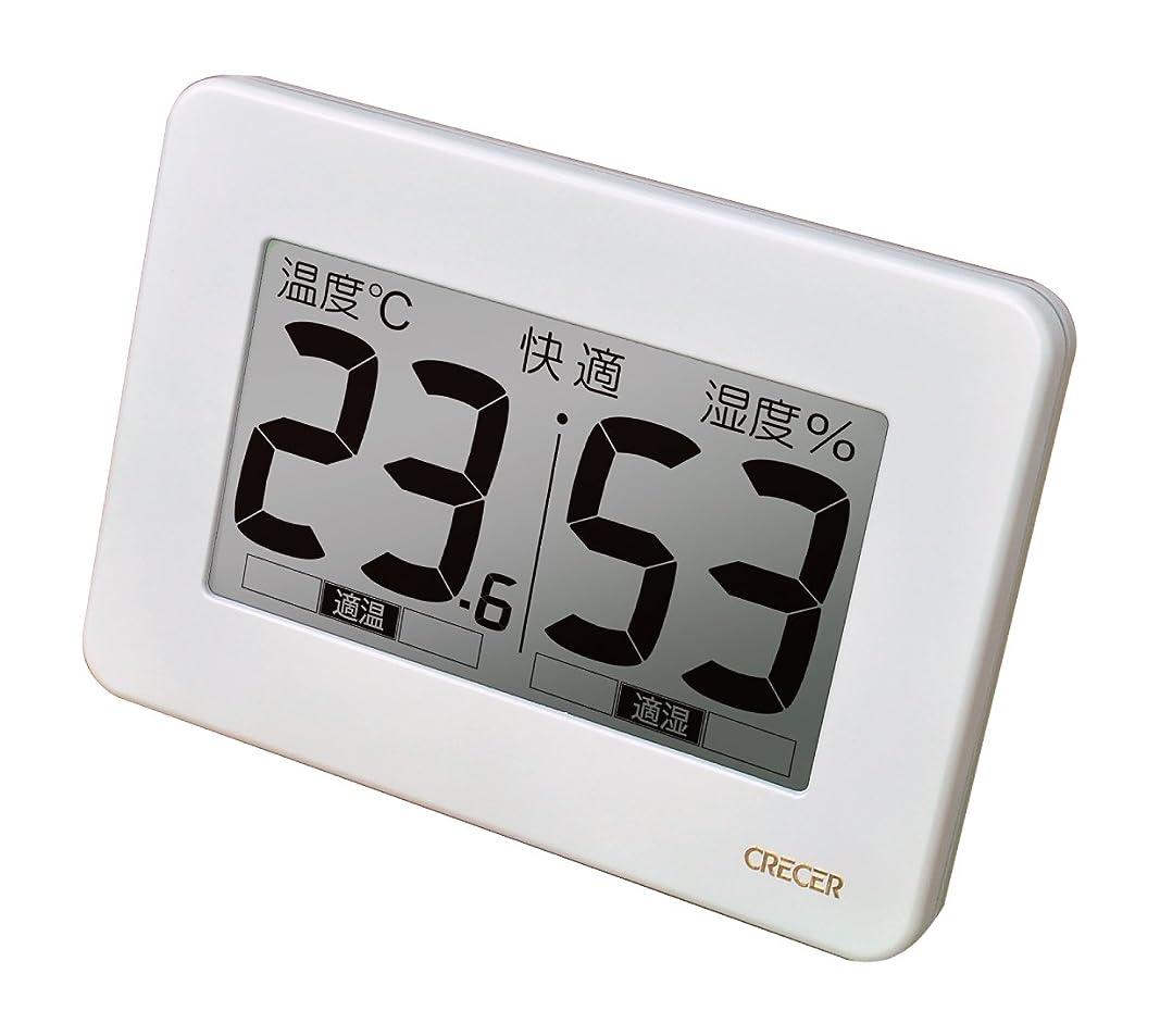 受け皿シリンダー経験的クレセル 超大画面デジタル温湿度計 CR-3000W