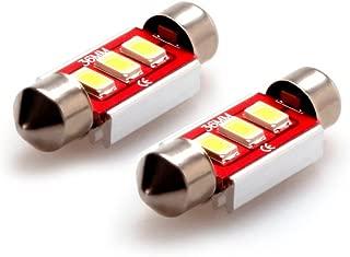 iDlumina Festoon 36mm C5W 6486X DE3423 DE3425 6461 6418 12844 12854 12V White Canbus Error Free LED Car Light Bulb 3X5730SMD (Pack of 2)