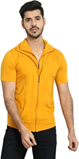 Black Collection Men's Plain Slim Fit Half Sleeves T-Shirt