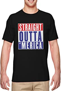 Haase Unlimited Straight Outta Merica - Parody USA Men's T-Shirt
