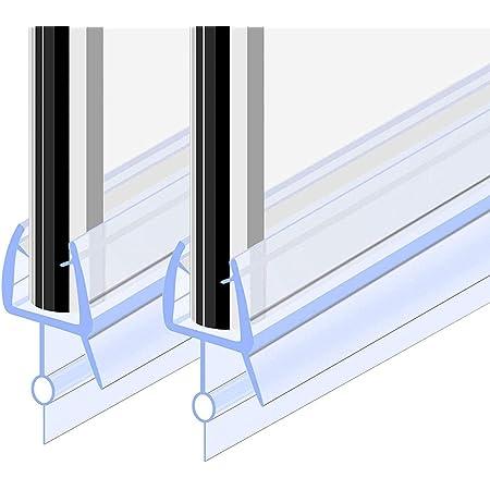 Goldge Junta para mampara de ducha   Junta de goma de repuesto Fabricado en PVC Duro y PVC Suave Ajustable Usar a el Cristal de 6 mm