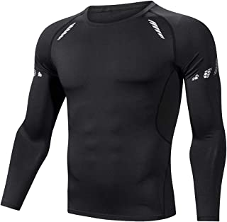 ZOORE Men's Cool Dry Skin Fit Compression Shirt Black