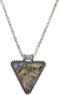 Xmas Christmas Holiday Triangle Prism Antique Tribal Statement Necklace.