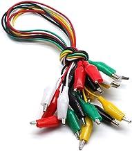 LICTOP 10 件 5 色测试铅套装,带鳄鱼夹绝缘测试电缆双头电线夹(48.26 cm)