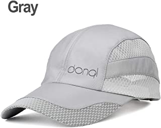 DONQL Unisex Breathable Quick Dry Mesh Baseball Cap Outdoor Fishing Cap Sun Hat