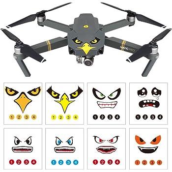 Moda Fai da Te Adesivi Drone Cool Shark Decalcomanie Pelle Drone Accessori Forniture per DJI Mavic PRO e per Spark Drone ToGames-IT