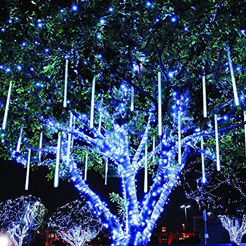 Twinkle Star Meteor Shower Rain Lights, Valentine Lights 30cm 8 Tubes 288 LED Icicle Snow Falling Christmas Lights...