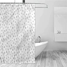 HCCJLCKS Printed Shower Curtain Money Cryptocurrency Theme Quick Drying W72 xL72,Shower Curtain for Women