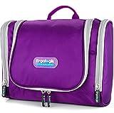 ErgaLogik TraveLite Premium Professional Travel Toiletry Bag (Eggplant)