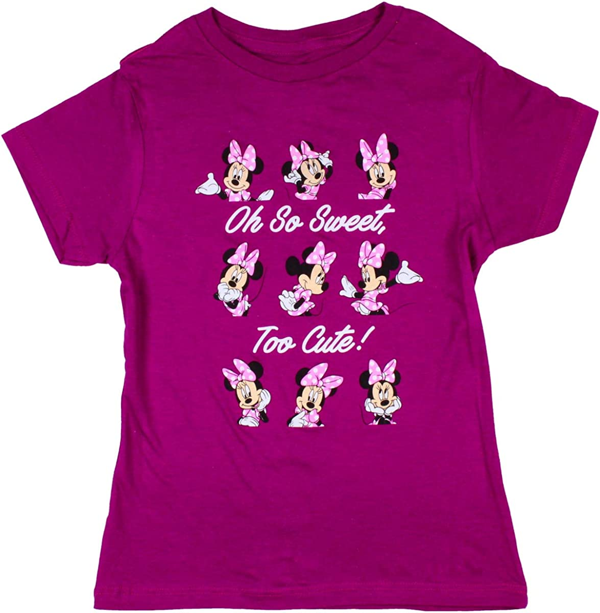 Disney Minnie Mouse Girls Oh So Sweet, Too Cute! T-Shirt