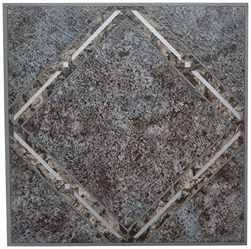Achim Home Furnishings FTVGM33420 Nexus Self Adhesive Vinyl Floor Tiles, Metallic Diamond, 12 x 12-Inch, 20-Pack, Megallic Marble, 20 Sq Ft