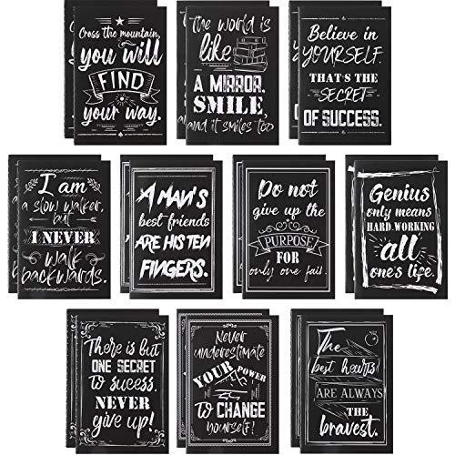 20 Stück Inspirierende Notizblöcke Mini Zitat Notizblöcke Kleine Taschen-Notizbücher Motivations Notizbuch mit Tafel Design für Heimreisezubehör der Büroschule, 10 Stile, 3,2 x 5 Zoll