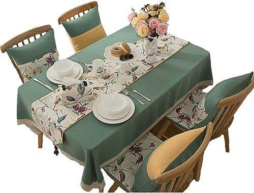 Oevino American Country wasserdichte Tischdecke Rechteckige Einfarbige Couchtisch Esstisch Tischdecke Leinen Tischplatte Dekoratives Tuch (Größe   90x140cm)