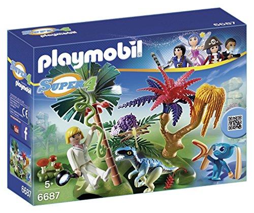 PLAYMOBIL - Isla perdida con Alien y Raptor