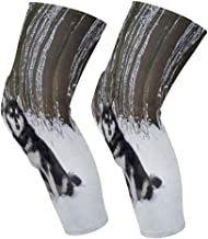 allgobee Knee Brace Alaskan Malamute Dog Knee Compression Sleeve Support Shin Pads for Running Sports,Sold as Pair