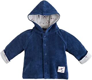 Organic Cotton Twilight Navy Baby Boy Terry Snap Front Hoodie