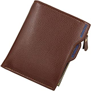 BeniMen's new wallet multi-function multi-card short wallet-Litchi shallow light