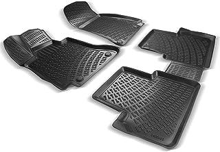 3D Gummimatten Auto Matten Fussmatten kompatibel mit Ford Fiesta ab 2018 passgenaue mit hohem Rand c.a 5 cm
