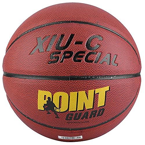 OhhGo Balón de baloncesto de entrenamiento de baloncesto juegos de cuero de la PU interior/exterior tamaño 7