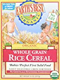 Best Whole Grain Baby Cereal - Earth's Best Baby Cereal