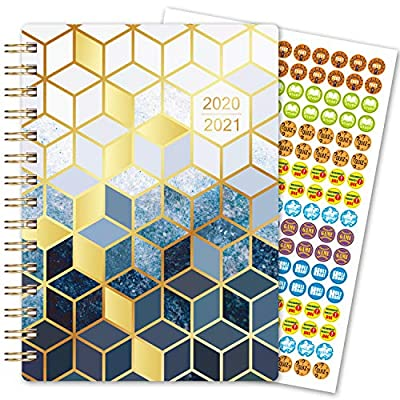 "2020-2021 Student Planner – Academic Planner 2020-2021 for School Year July 2020 – June 2021, 6""x 8.5"", Weekly & Monthly Planner, Month Tabs, Bonus Ruler/Bookmark and Planning Stickers"
