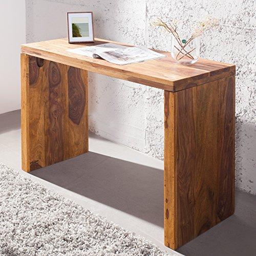 CAGÜ - Schreibtisch [SATNA] aus SHEESHAM MASSIV Holz GEWACHST 100cm, NEU!