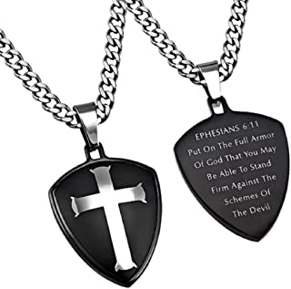 STAINLESS STEEL Shield Cross of Faith