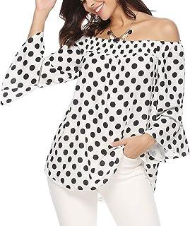 a33737070cd9 Amazon.es: Lunares - Blusas y camisas / Camisetas, tops y blusas: Ropa