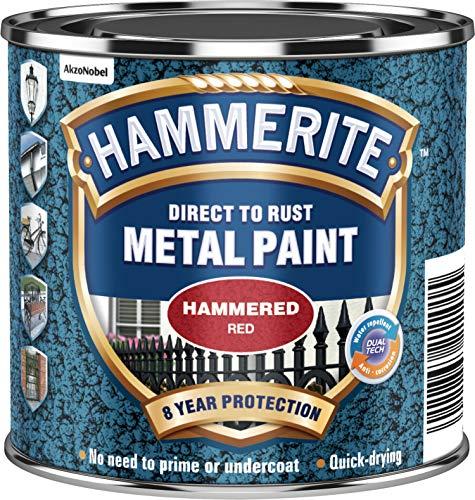 Hammerite Métal Peinture martelé 250ml Rouge