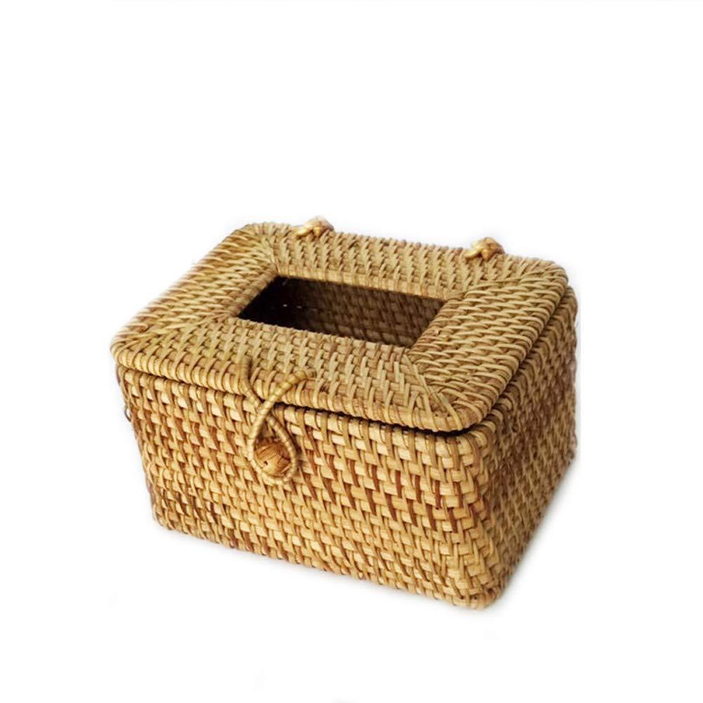 Caja rectangular para pañuelos, hecha a mano, de ratán, ideal para ...