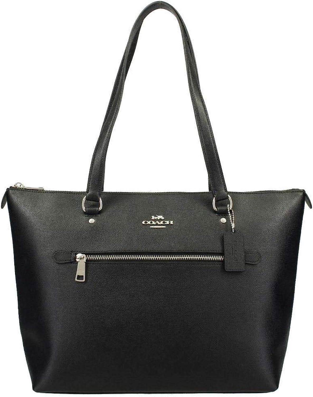 Coach Leather Gallery Shoulder Tote Purse - #F79608 - Black, Medium