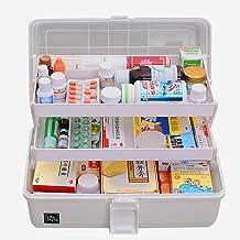 Likeluk apteczka domowa, 3 poziomy, przezroczyste pudełko, wielofunkcyjne pudełko do sortowania z uchwytem, 33 x 18 x 17,5...