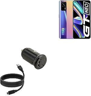 Carregador de carro para Realme X7 Max (carregador de carro da BoxWave) – Carregador de carro mínimo com cabo DirectSync, ...