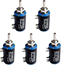 HiLetgo 5pcs WXD3-13-2W 10K Ohm Multi-Turn Wirewound Potentiometer 10K Ohm